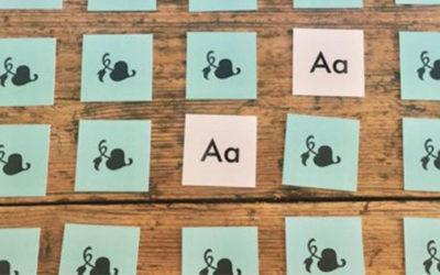 El juego de memoria de tipografías