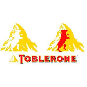 Logos creativos: Toblerone remarcando su mensaje subliminal del oso