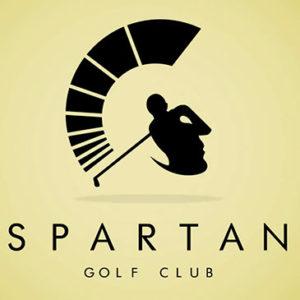 Logos creativos: Spartan Golf Club y su mensaje subliminal de jugador de golf y espartano