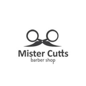 Logos creativos: Mister Cutts y su mensaje subliminal de unas tijeras que forman una cara con bigote