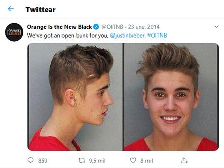 Publicación de Netflix en sus Redes Sociales tras la detención de Justin Bieber
