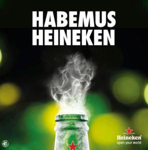 Ejemplo de Heineken para mostrar qué es el newsjacking que utilizó por la elección del nuevo Papa