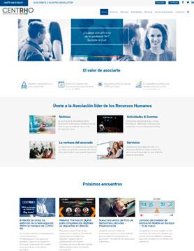 portfolio de empresa de seo en madrid proyecto web de asociacion centro