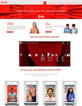 portfolio de empresa de seo en madrid proyecto web de bcome dia