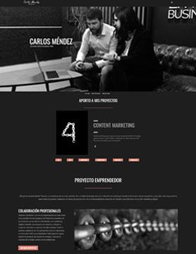 portfolio de empresa de seo en madrid proyecto web de carlos méndez bellido